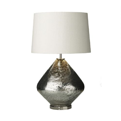 Evora Table Lamp Volcanic Silver Base Only (Hand made, 7-10 day Delivery)